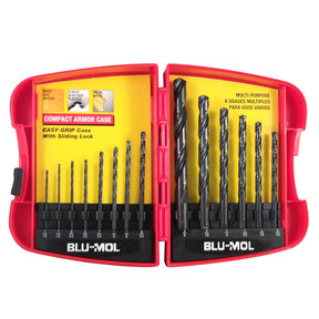Blu-Mol 14-Piece Black Oxide HSS Drill Bit Set