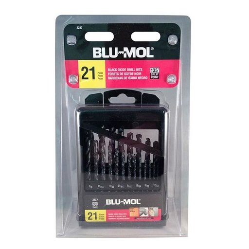 View a Larger Image of Blu-Mol 21-Piece Black Oxide HSS Drill Bit Set