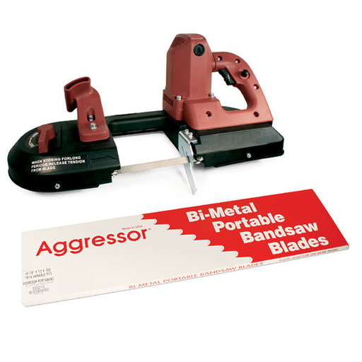 "View a Larger Image of Blu-Mol Aggressor Constant Pitch, 18 Raker, 44-7/8"" L, Bandsaw Blades, 3-Pack"