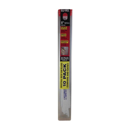 """View a Larger Image of Blu-Mol Bi-Metal All-Purpose Reciprocating Saw Blade, 8"""" x 3/4"""" x .035"""", 10/14 TPI, 5-Pack"""