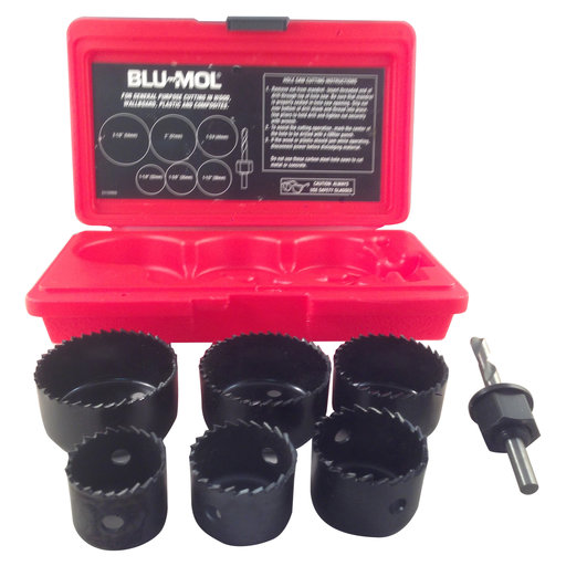 View a Larger Image of Blu-Mol Carbon Hole Saw Kit, 7-Piece