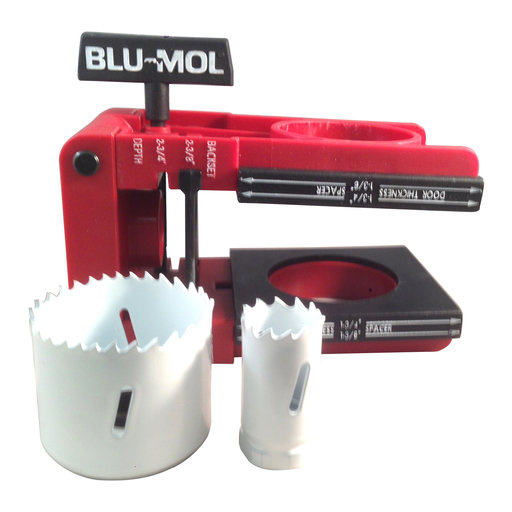 View a Larger Image of Blu-Mol Door Lock Installation Kit, #6574