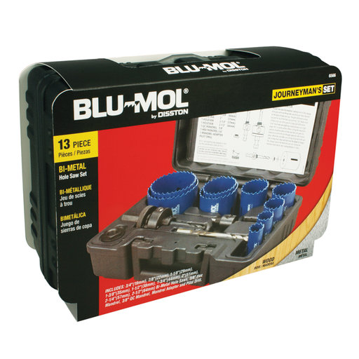 View a Larger Image of Blu-Mol Journeyman Bi-Metal Hole Saw Kit, 13-Piece