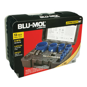Blu-Mol Journeyman Bi-Metal Hole Saw Kit, 13-Piece
