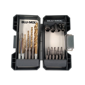 "Blu-Mol Quick Change Titanium Drill Drive Set, 1/4"" Shank, 30-Piece"