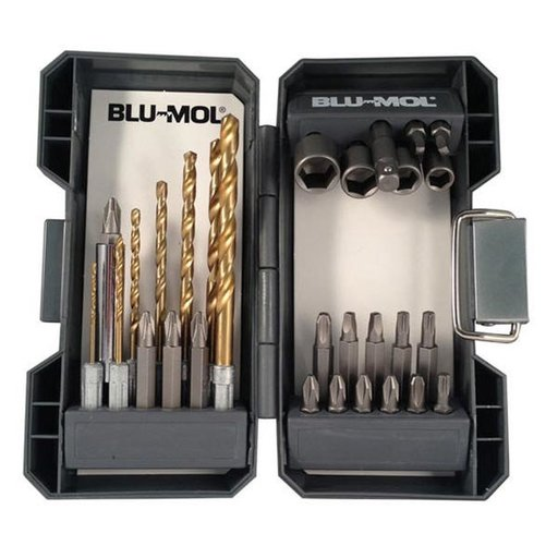 "View a Larger Image of Blu-Mol Quick Change Titanium Drill Drive Set, 1/4"" Shank, 30-Piece"