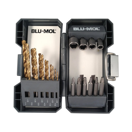 View a Larger Image of Blu-Mol Titanium Drill Driver Set, 24-Piece