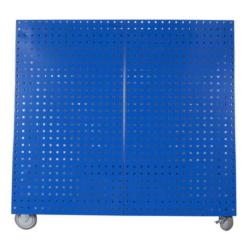 View a Larger Image of Blue  Anodized Aluminum Frame Tool Cart with Tray