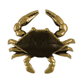 Blue Crab Door Knocker - Brass