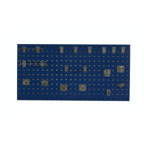 Triton Products Blue Epoxy 18 Gauge Steel Square Hole Pegboards