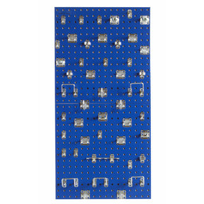 Blue Epoxy, 18 Gauge Steel Square Hole Pegboards with 46 pc LocHook Assortment