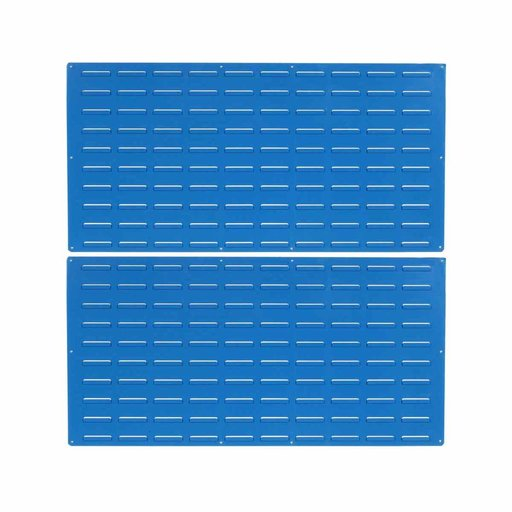 View a Larger Image of 2 - Blue Epoxy Coated Louvered Panels, 18 gauge