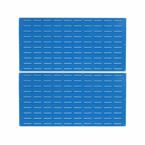 blue epoxy coated louvered panel