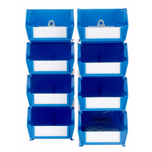 View a Larger Image of Blue Hanging Bin & Clip Kits
