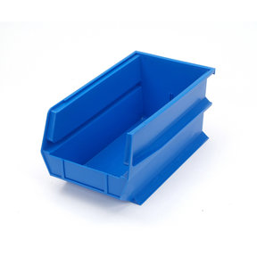 Blue Stacking, Hanging, Interlocking Polypropylene Bins, 6 CT