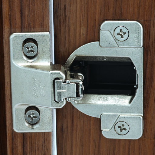 "View a Larger Image of 110 Deg Face Frame Euro Hinge, 3/4"" Overlay, Edge Mount, Pair"