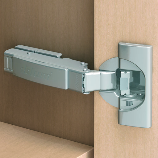 View a Larger Image of Clip Top 110 Degree Face Frame Full Overlay Hinge with BLUMOTION