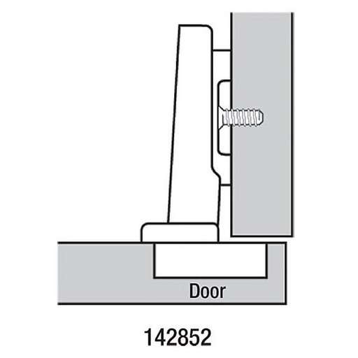 View a Larger Image of 120° Full Overlay Clip Top Hinge w/cam Plate Pair