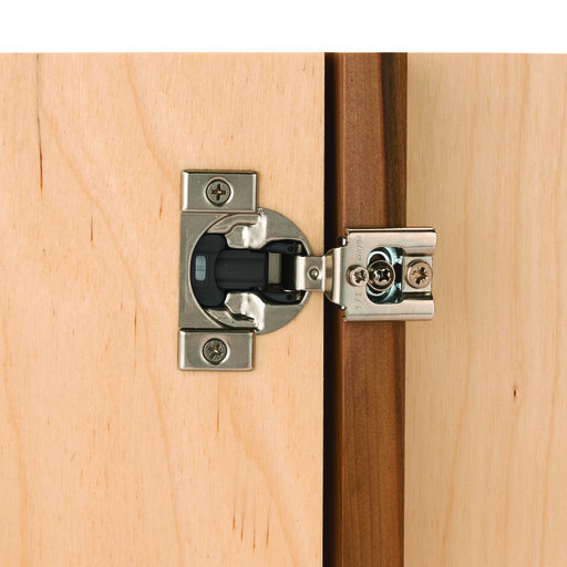 "View a Larger Image of Compact Face Frame Hinge with Blumotion 1/2"" Overlay Pair"