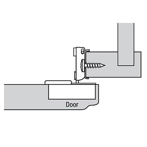 "View a Larger Image of Compact Face Frame Hinge with otion 1/2"" Overlay Pair"