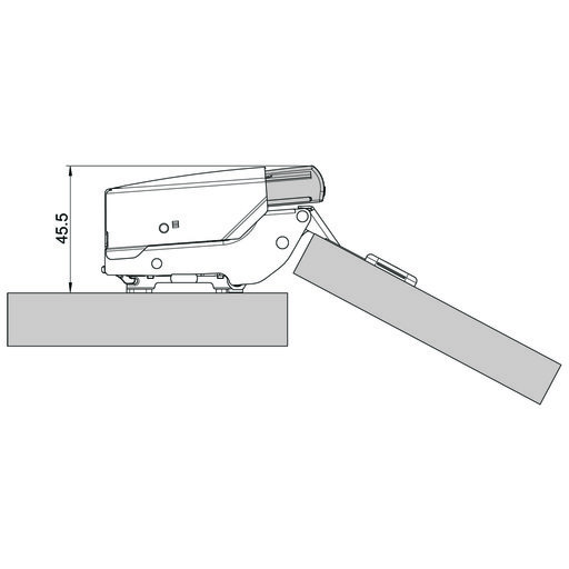 View a Larger Image of Blumotion Snap-on for Woodcraft Hinge 142853 & 142856, 71t5650, Door 973a