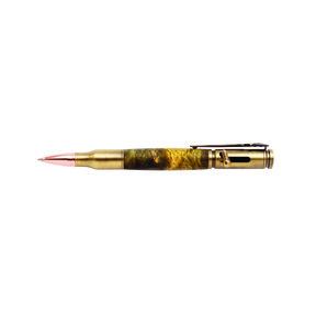 Bolt Action 30 Caliber Antique Brass Pen Kit PKCP8040