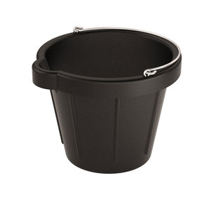 Heavy-Duty Rubber Pail with Pouring Lip, 18 Quart