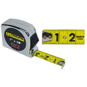 25' Tape Measure with Chrome Case