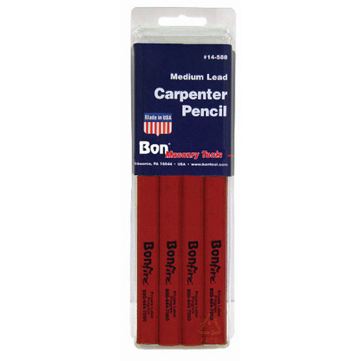View a Larger Image of Carpenter Pencils with Red Casing and Black Lead - 12 Count