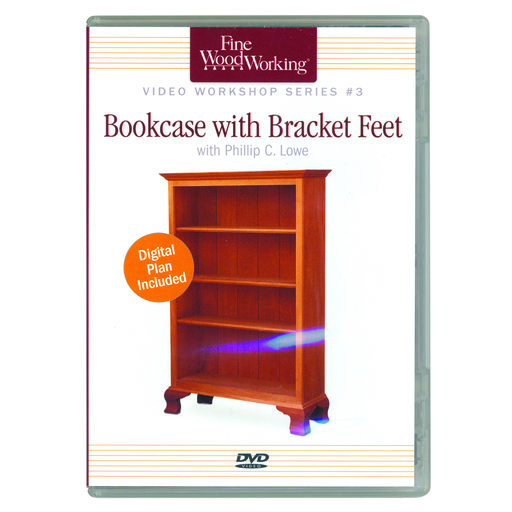 View a Larger Image of Bookcase with Bracket Feet Series #3