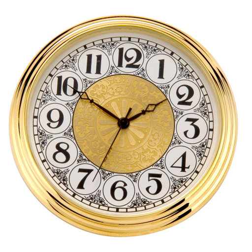 View a Larger Image of Brass Fit-Up, Arabic Numbers, Fancy Dial, 50mm