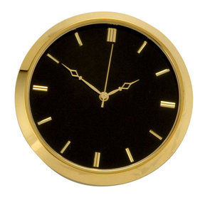 Brass Fit-Up, Modern Numbers, Black Dial, 50mm