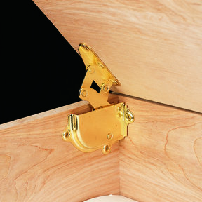 Brass Hinge with Built-in Lid Support