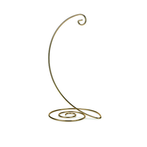 View a Larger Image of Brass Small Spiral Ornament Stand
