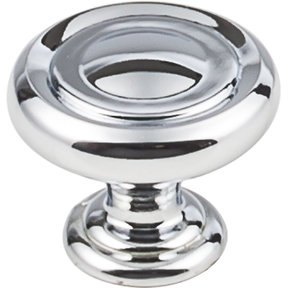 "Bremen 1 Knob, 1-1/4"" Dia.,  Polished Chrome"