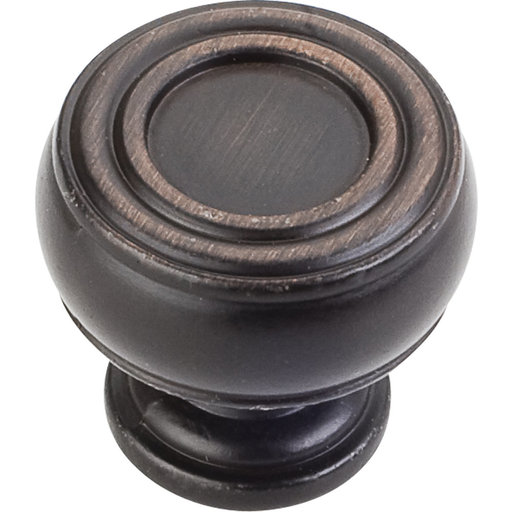 "View a Larger Image of Bremen 2 Barrel Knob, 1-3/16"" Dia.,  Brushed Oil Rubbed Bronze"