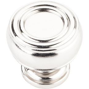 "Bremen 2 Barrel Knob, 1-3/16"" Dia.,  Polished Nickel"