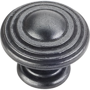 "Bremen 2 Stacked Knob, 1-1/4"" Dia.,  Gun Metal"