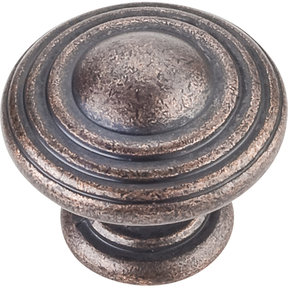 "Bremen 2 Stacked Knob, 1-1/4"" Dia.,  Distressed Oil Rubbed Bronze"