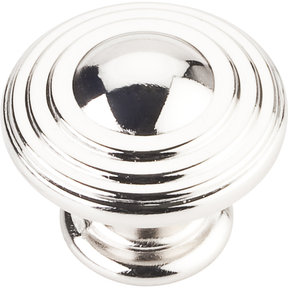"Bremen 2 Stacked Knob, 1-1/4"" Dia.,  Polished Nickel"