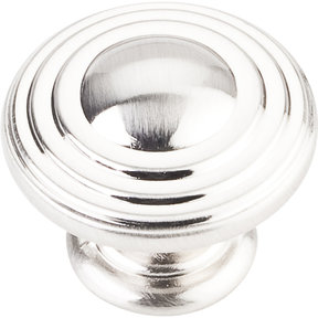 "Bremen 2 Stacked Knob, 1-1/4"" Dia.,  Satin Nickel"