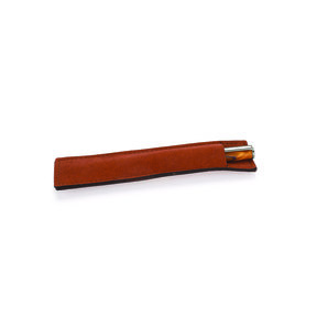 Brown Leatherette Single Pen Sleeve