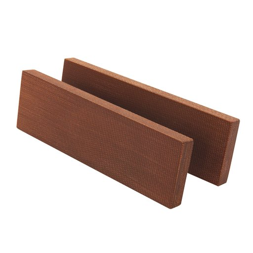 "View a Larger Image of Brown Synthetic Fibre Board Knife Scale Material 2-pc. 3/8"" x 2"" x 5"""