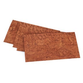"Bubinga, Waterfall 4-1/2"" to 6-1/2"" Width 3 sq ft Pack Wood Veneer"