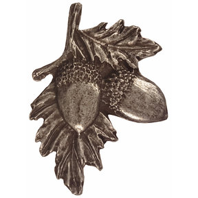 Acorns on Branch Pull, Pewter, Model 300P