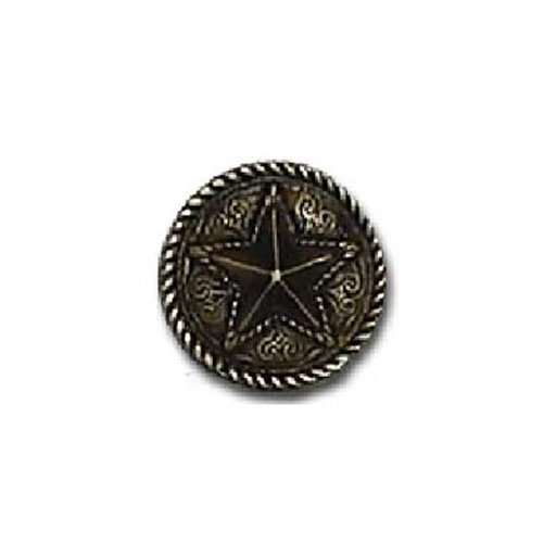 View a Larger Image of Barn Star Pull, Antique Brass, Model 334AB