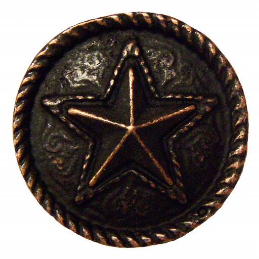 View a Larger Image of Barn Star Pull, Oil Rubbed Bronze, Model 334ORB