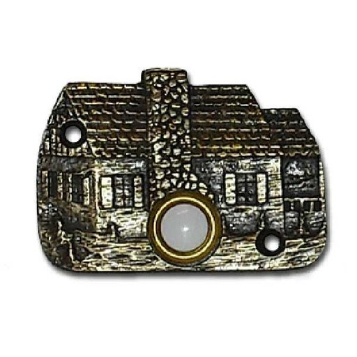 View a Larger Image of Cabin Door Bell, Antique Brass, Model 919AB