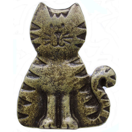 View a Larger Image of Cat Pull, Antique Brass, Model 097AB