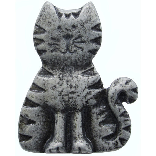 View a Larger Image of Cat Pull, Pewter, Model 097P